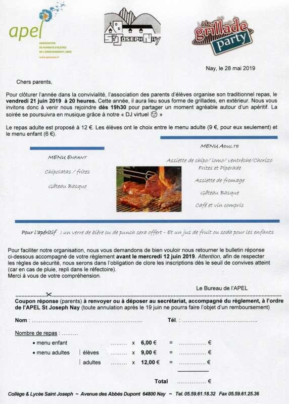 REPAS FIN D'ANNEE APEL233
