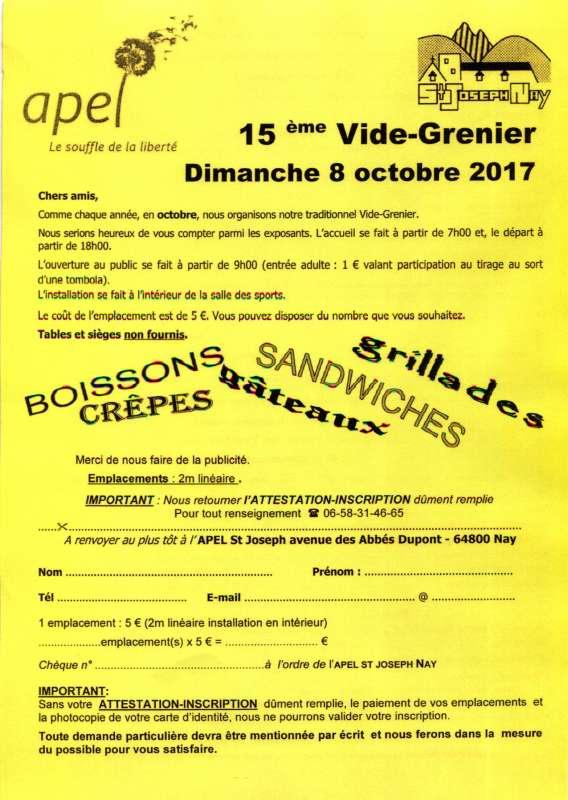 VIDE GRENIER 08102017571