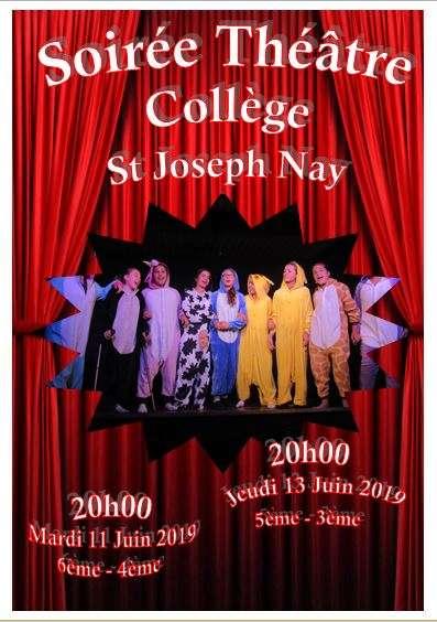 Afiche théâtre Collège